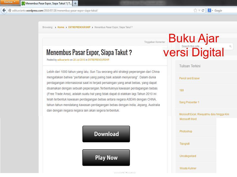 Buku Ajar versi Digital