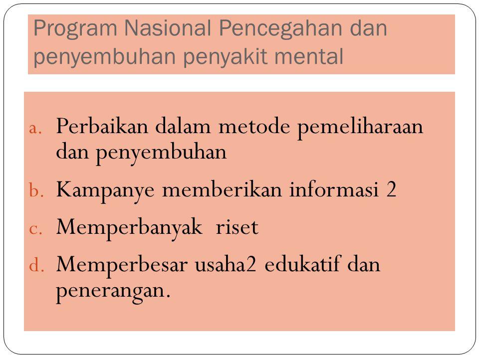 Program Nasional Pencegahan dan penyembuhan penyakit mental