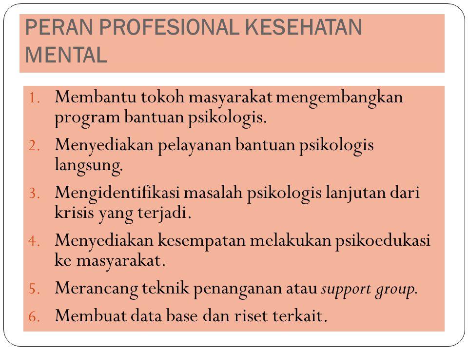 PERAN PROFESIONAL KESEHATAN MENTAL