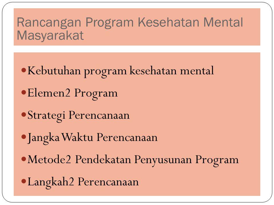 Rancangan Program Kesehatan Mental Masyarakat