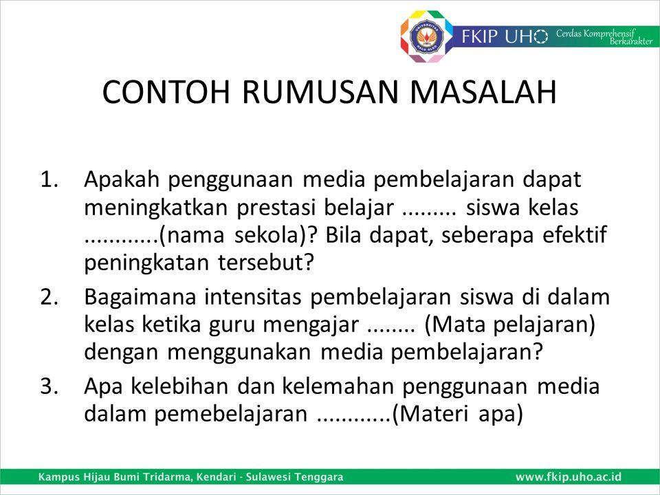 CONTOH RUMUSAN MASALAH