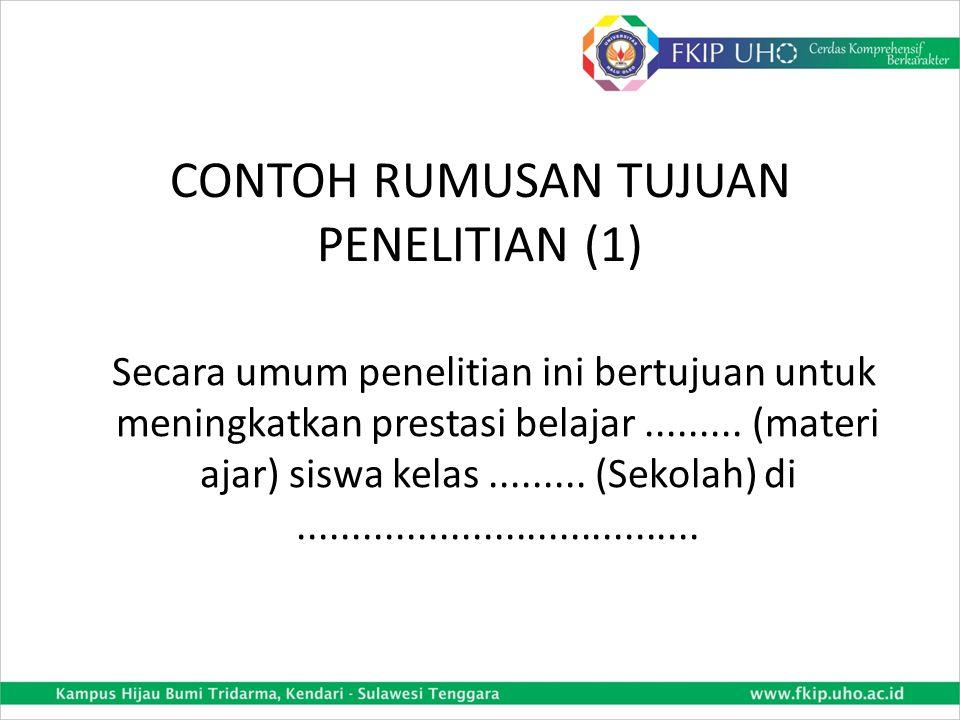 CONTOH RUMUSAN TUJUAN PENELITIAN (1)