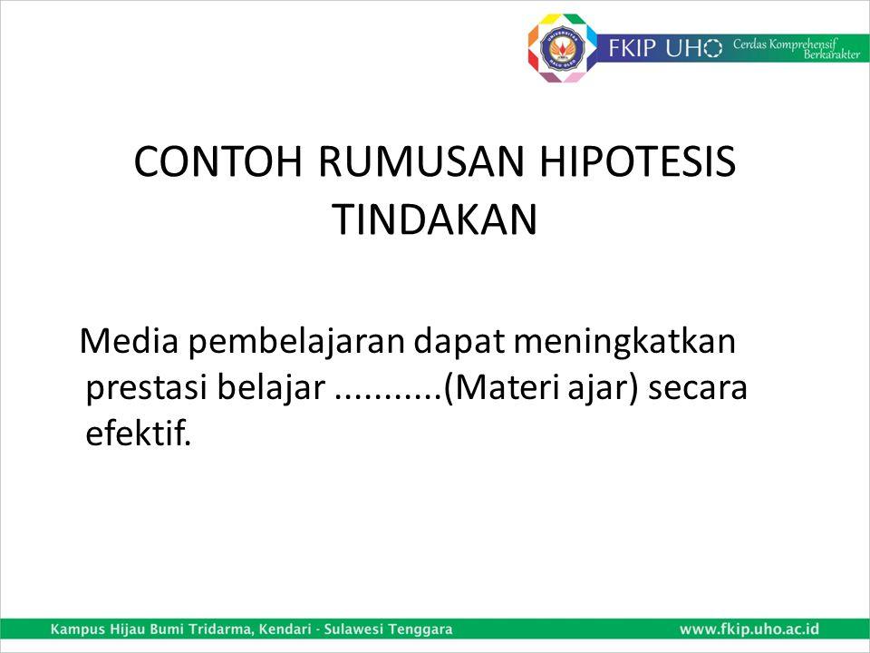 CONTOH RUMUSAN HIPOTESIS TINDAKAN