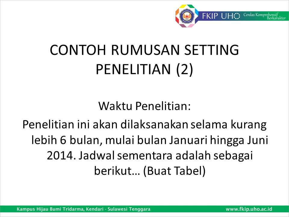 CONTOH RUMUSAN SETTING PENELITIAN (2)