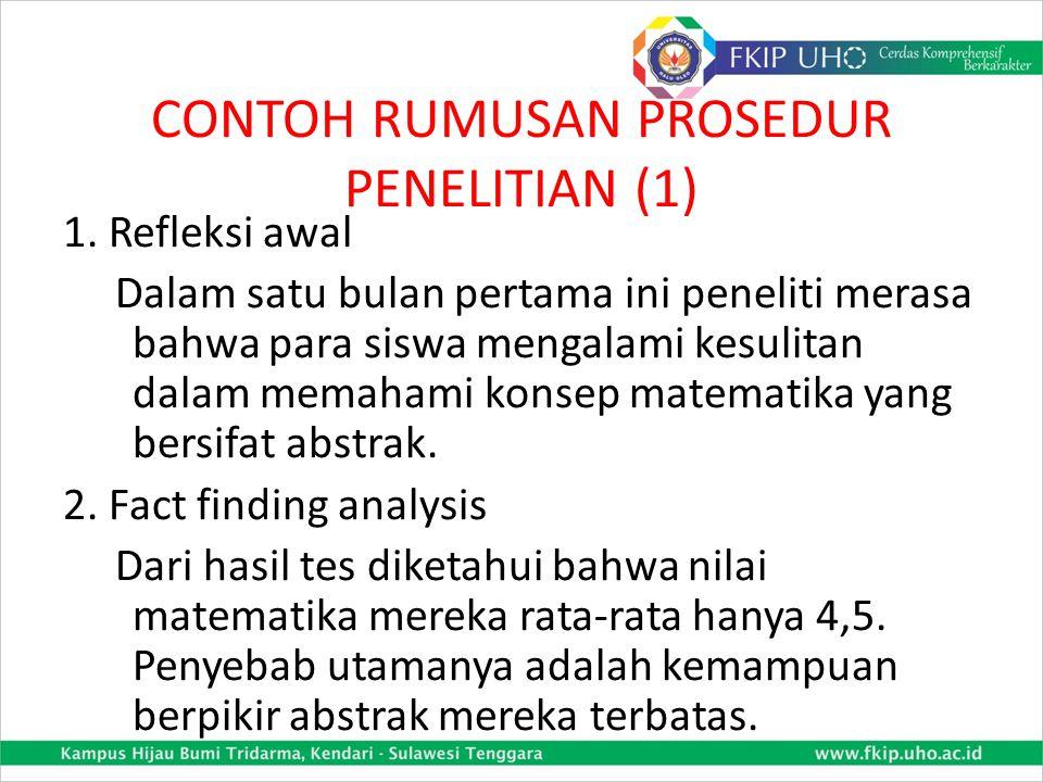 CONTOH RUMUSAN PROSEDUR PENELITIAN (1)