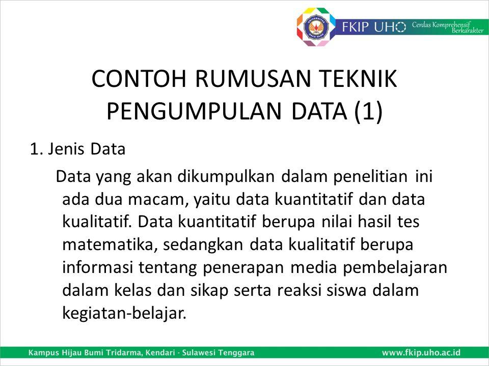 CONTOH RUMUSAN TEKNIK PENGUMPULAN DATA (1)
