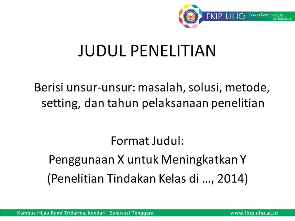 JUDUL PENELITIAN