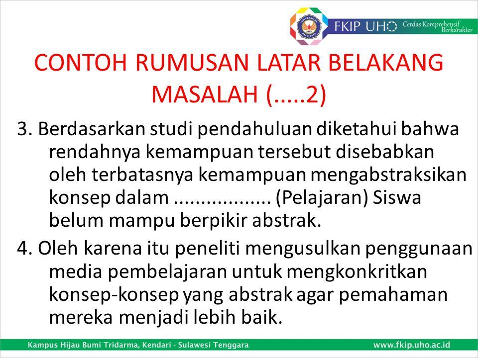 CONTOH RUMUSAN LATAR BELAKANG MASALAH (.....2)