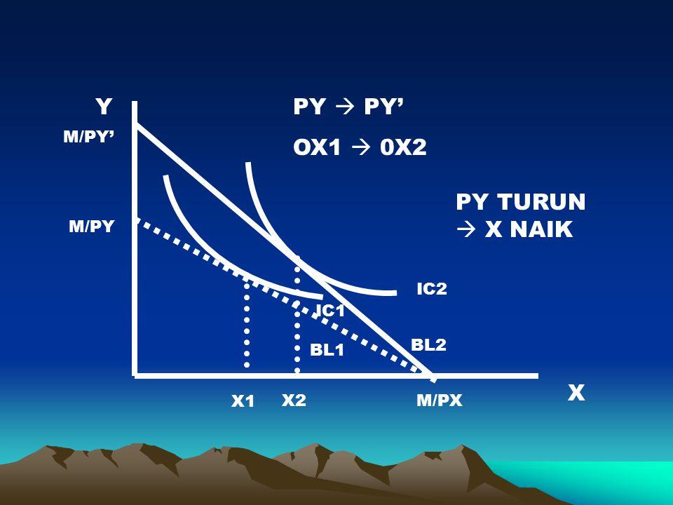 PY  PY' OX1  0X2 PY TURUN  X NAIK X Y M/PY' M/PY IC2 IC1 BL2 BL1 X1