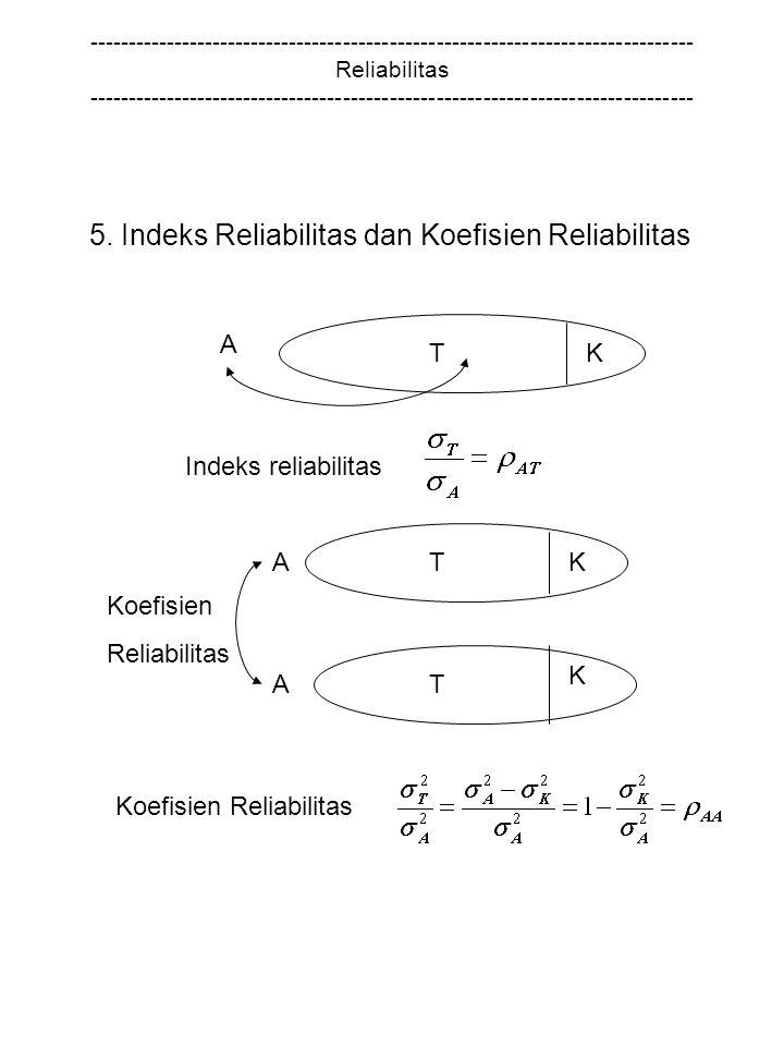 5. Indeks Reliabilitas dan Koefisien Reliabilitas