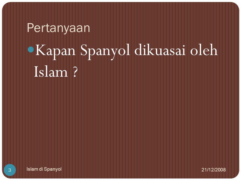Kapan Spanyol dikuasai oleh Islam