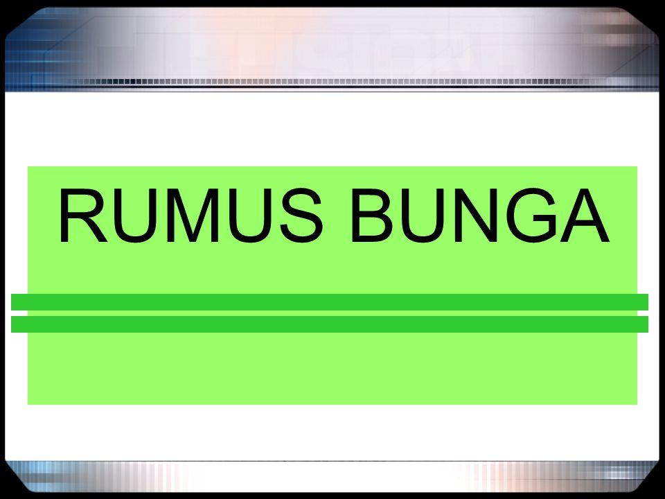 RUMUS BUNGA