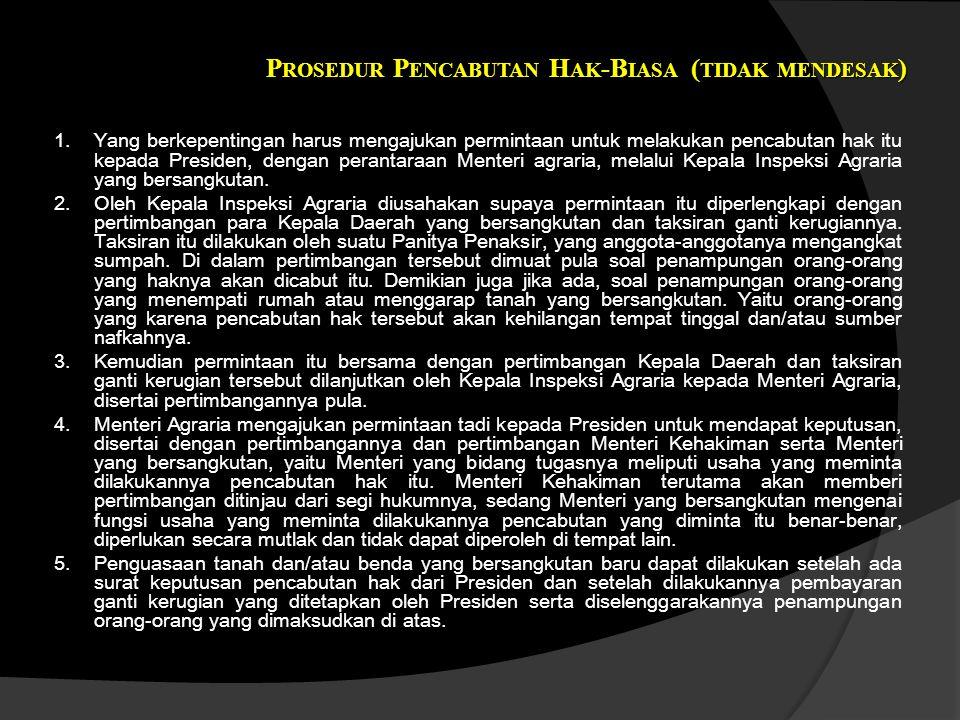 Prosedur Pencabutan Hak-Biasa (tidak mendesak)