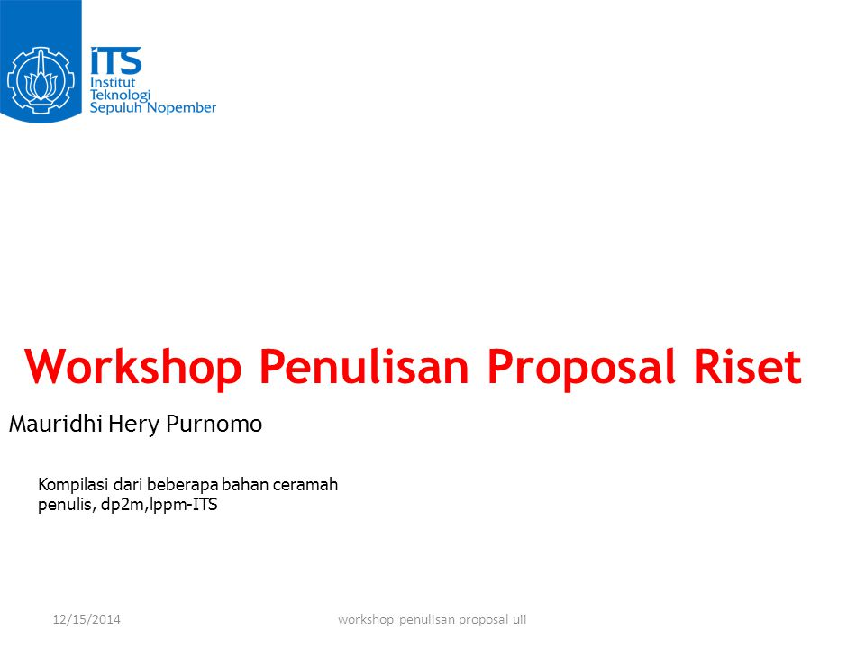 workshop penulisan proposal uii