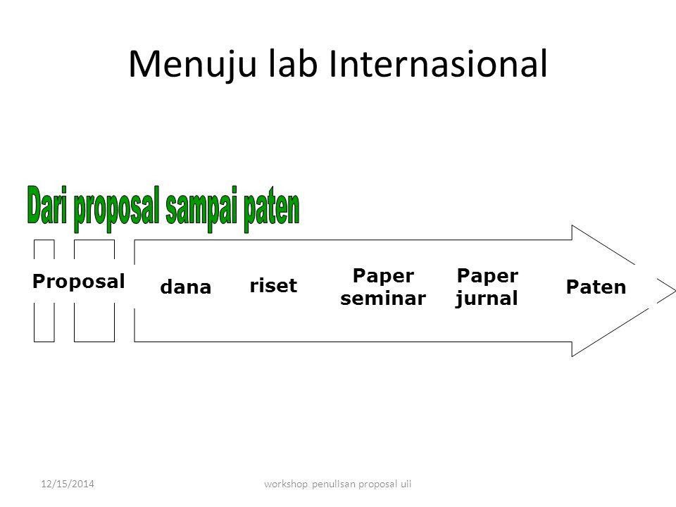 Menuju lab Internasional