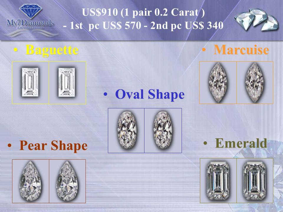 Baguette Marcuise Oval Shape Emerald Pear Shape