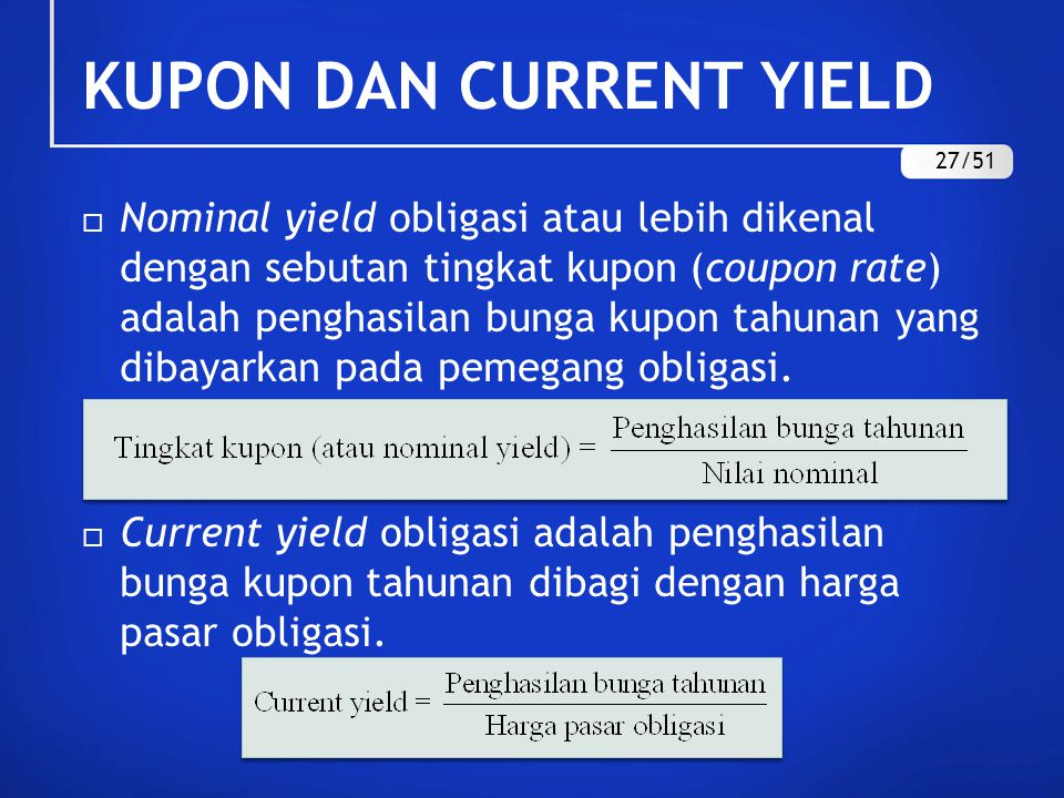KUPON DAN CURRENT YIELD 27/51