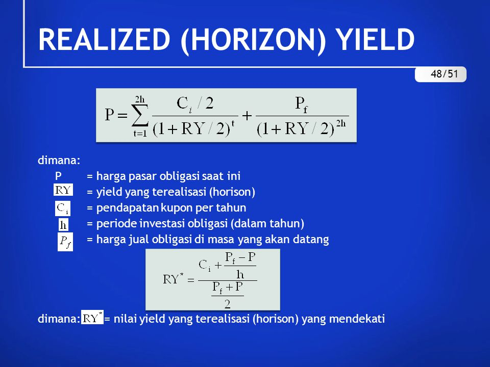 REALIZED (HORIZON) YIELD 48/51