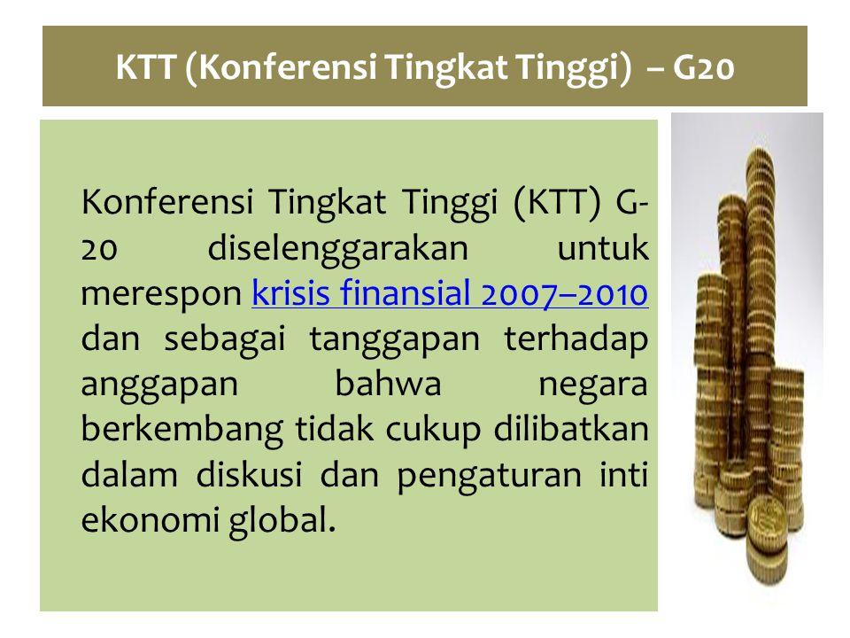 KTT (Konferensi Tingkat Tinggi) – G20