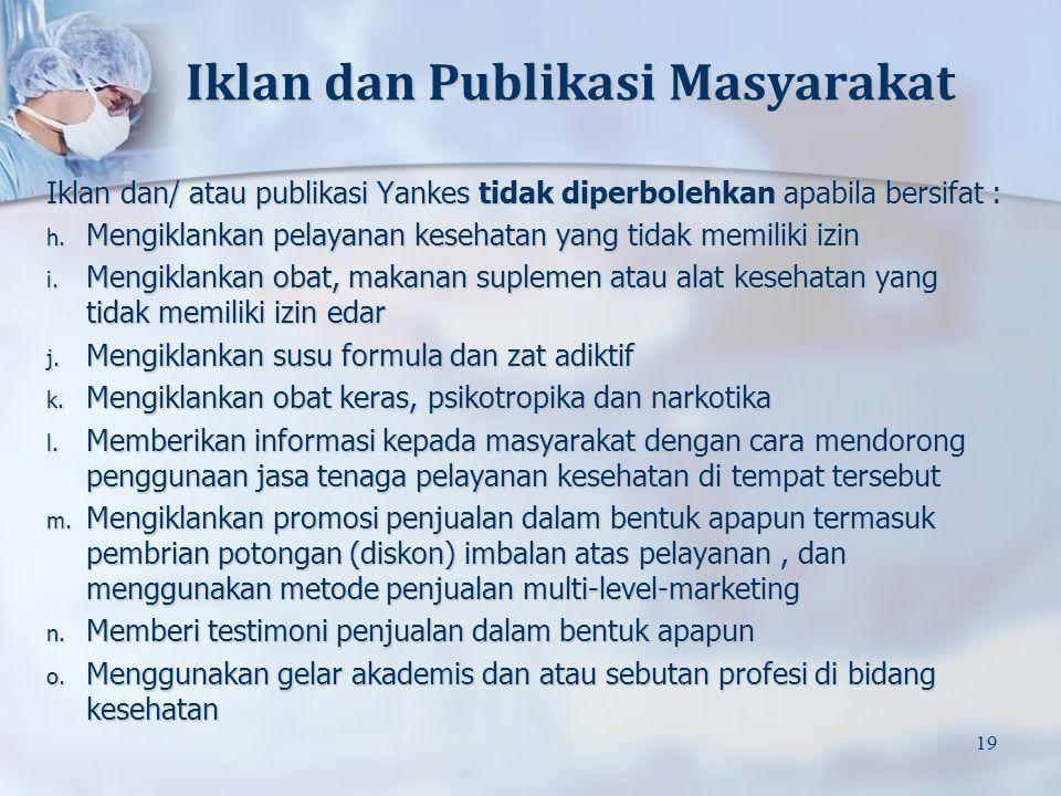 Iklan dan Publikasi Masyarakat