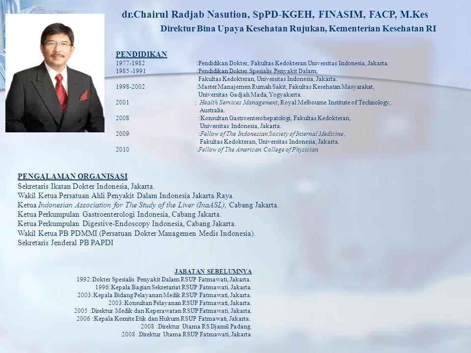 dr.Chairul Radjab Nasution, SpPD-KGEH, FINASIM, FACP, M.Kes