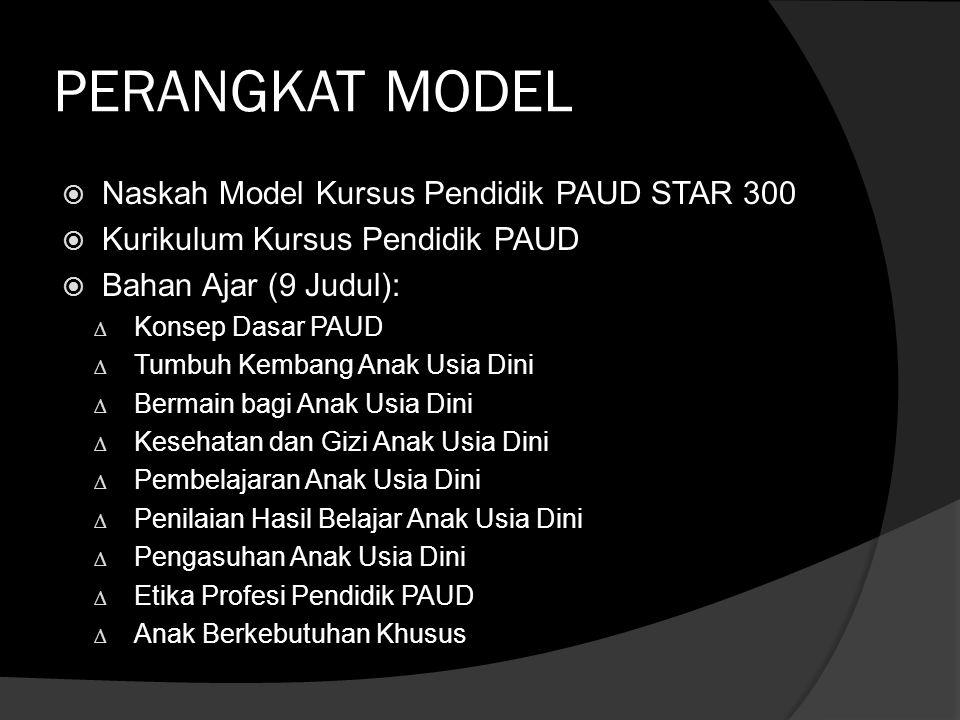 PERANGKAT MODEL Naskah Model Kursus Pendidik PAUD STAR 300