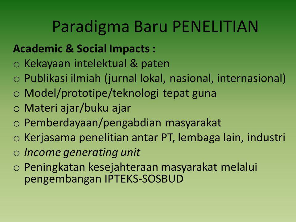 Paradigma Baru PENELITIAN