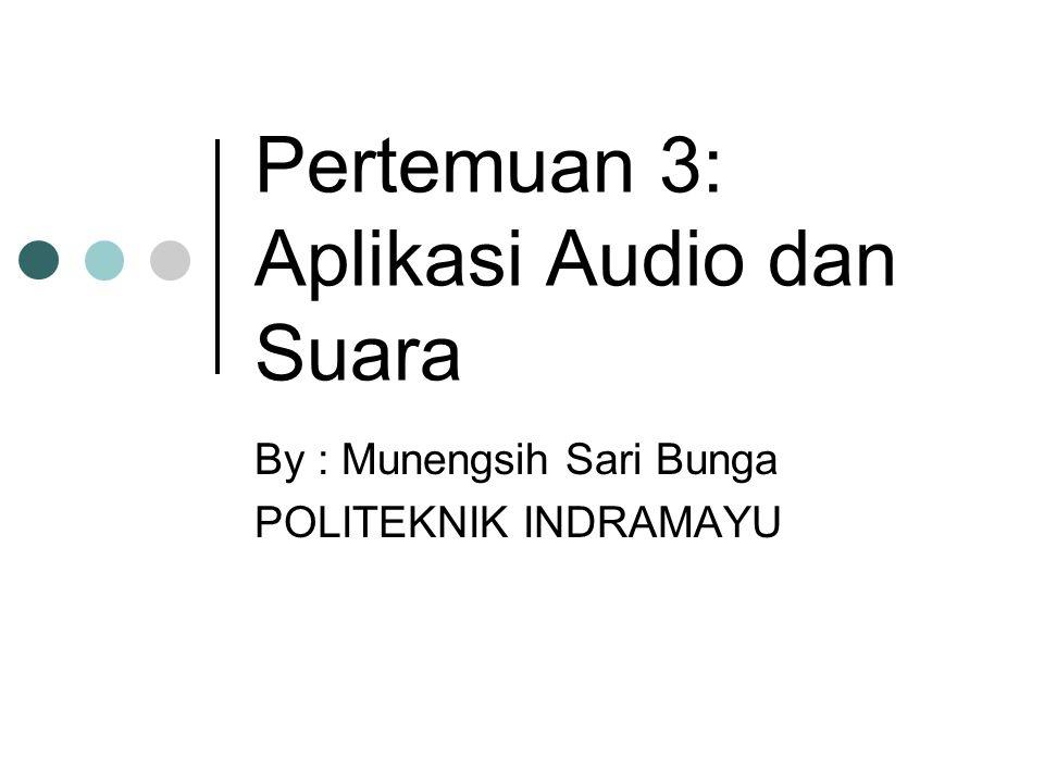 Pertemuan 3: Aplikasi Audio dan Suara