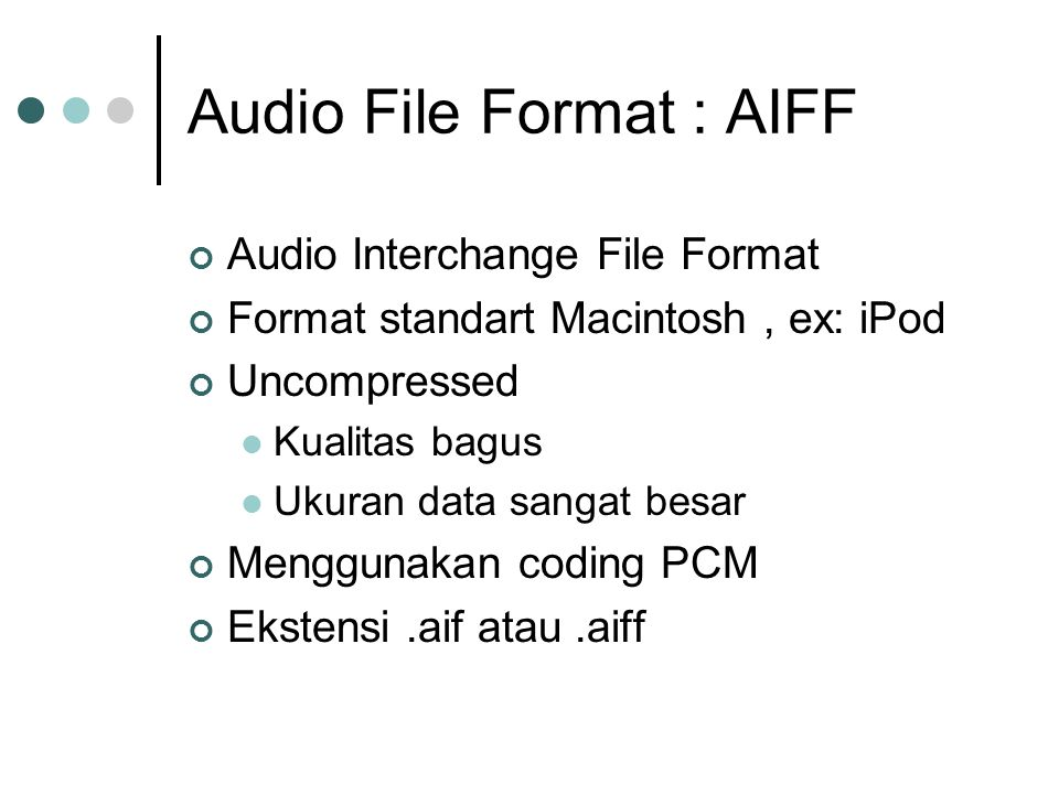 Audio File Format : AIFF