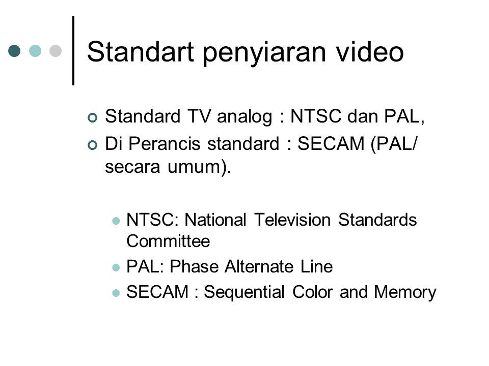 Standart penyiaran video