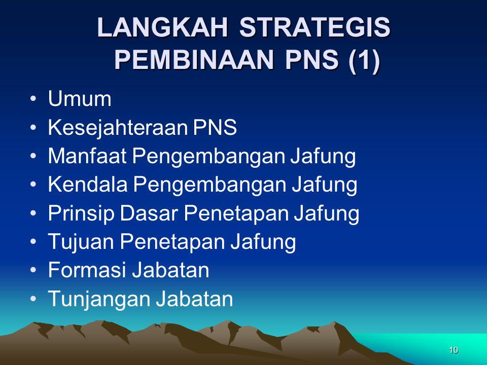 LANGKAH STRATEGIS PEMBINAAN PNS (1)