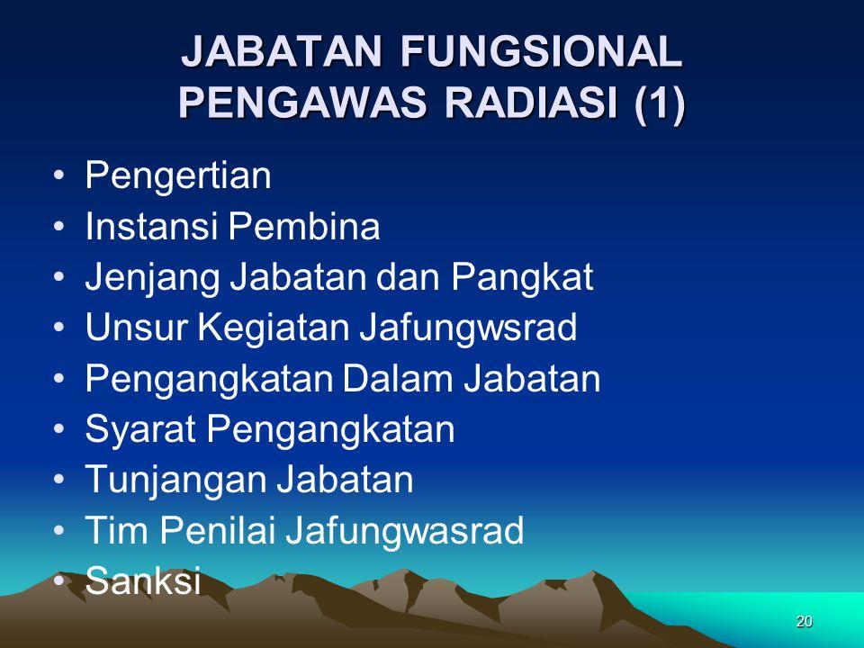 JABATAN FUNGSIONAL PENGAWAS RADIASI (1)