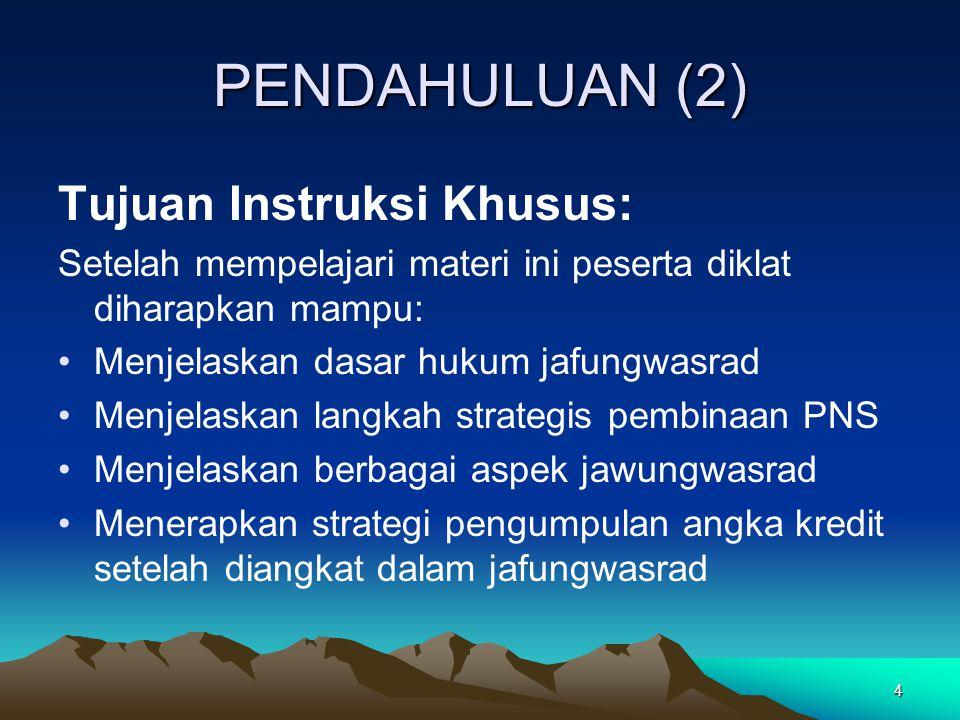 PENDAHULUAN (2) Tujuan Instruksi Khusus: