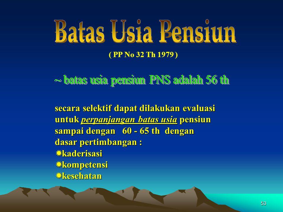 ~ batas usia pensiun PNS adalah 56 th