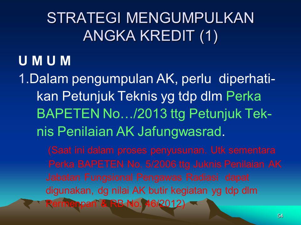 STRATEGI MENGUMPULKAN ANGKA KREDIT (1)