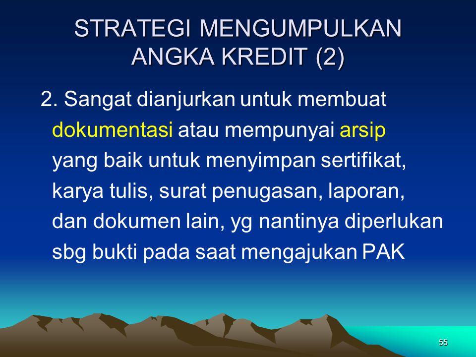 STRATEGI MENGUMPULKAN ANGKA KREDIT (2)