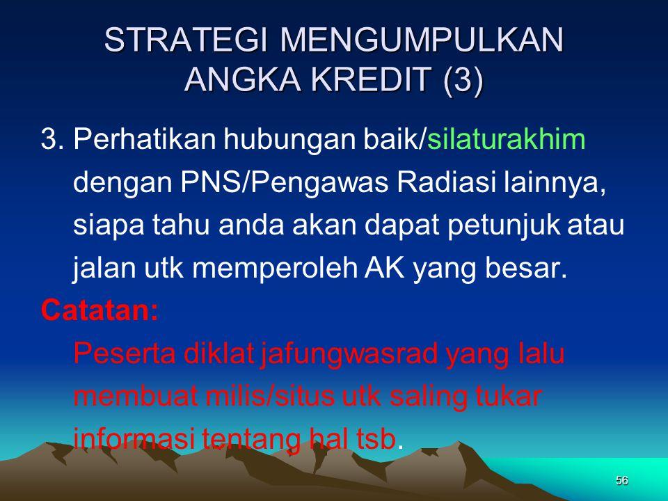 STRATEGI MENGUMPULKAN ANGKA KREDIT (3)