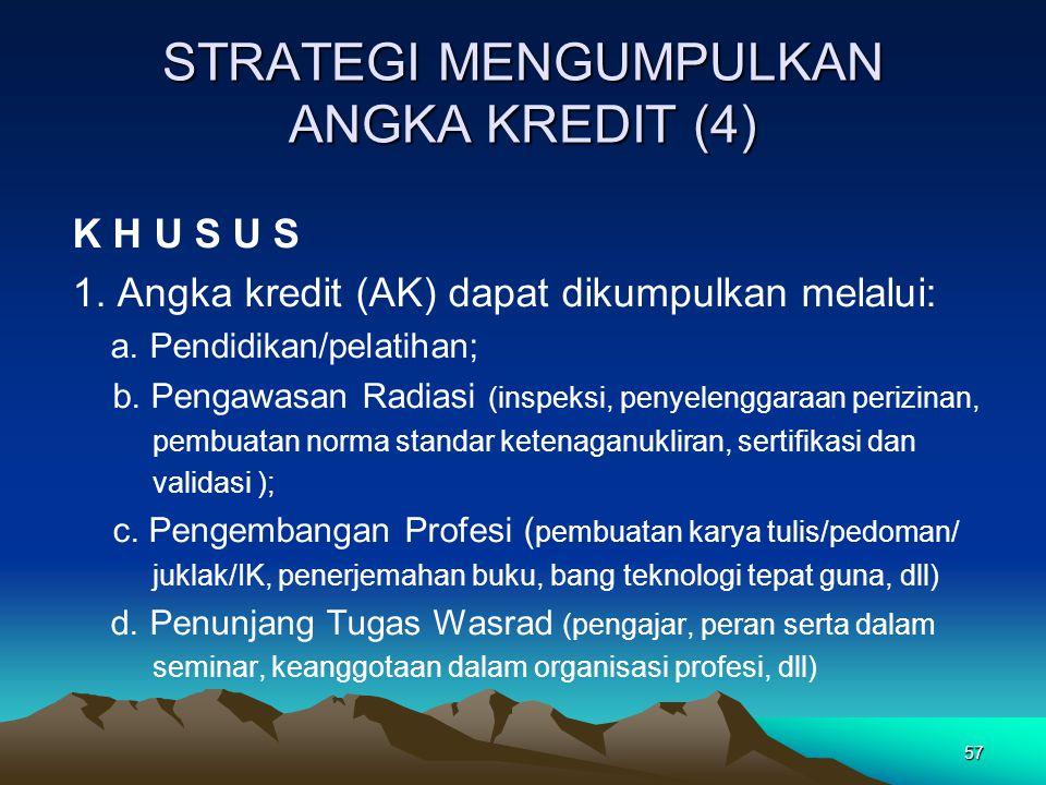 STRATEGI MENGUMPULKAN ANGKA KREDIT (4)