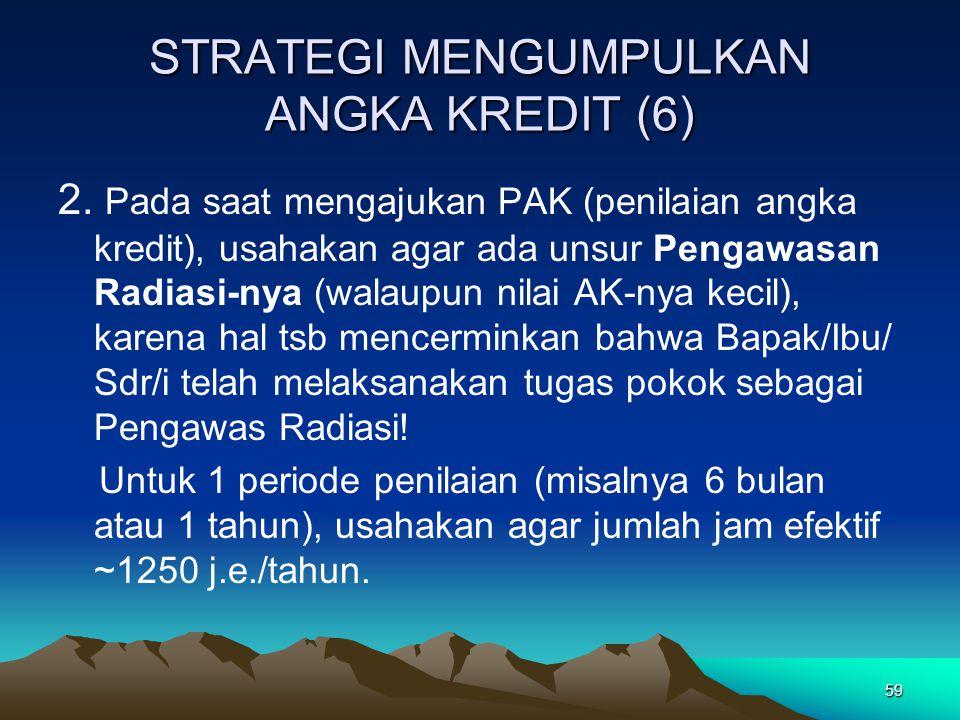 STRATEGI MENGUMPULKAN ANGKA KREDIT (6)