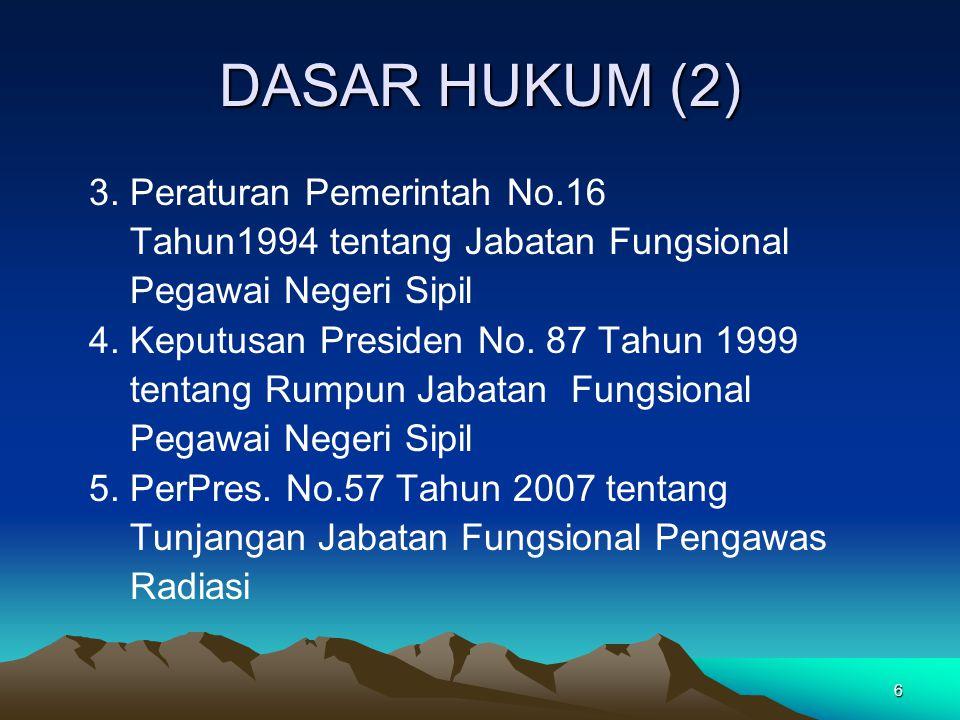 DASAR HUKUM (2) 3. Peraturan Pemerintah No.16