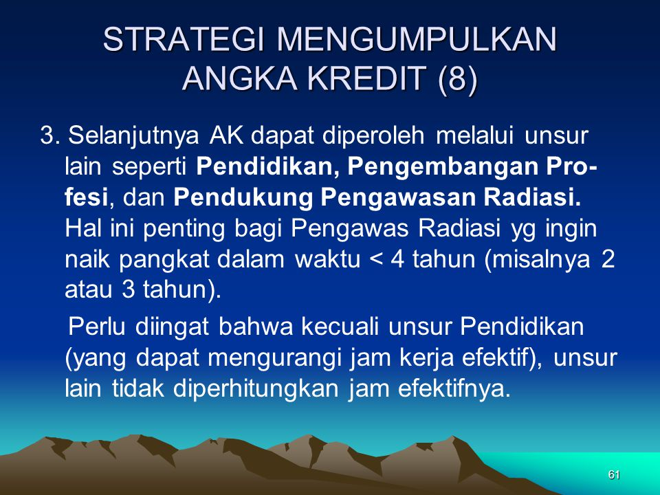 STRATEGI MENGUMPULKAN ANGKA KREDIT (8)
