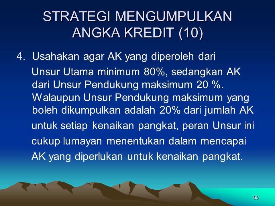 STRATEGI MENGUMPULKAN ANGKA KREDIT (10)