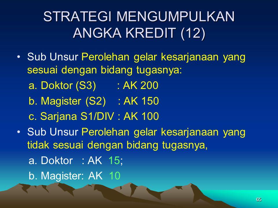 STRATEGI MENGUMPULKAN ANGKA KREDIT (12)