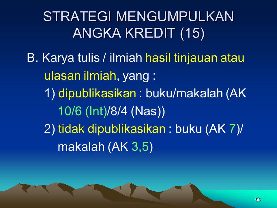 STRATEGI MENGUMPULKAN ANGKA KREDIT (15)