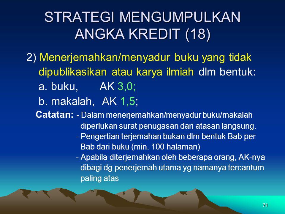 STRATEGI MENGUMPULKAN ANGKA KREDIT (18)