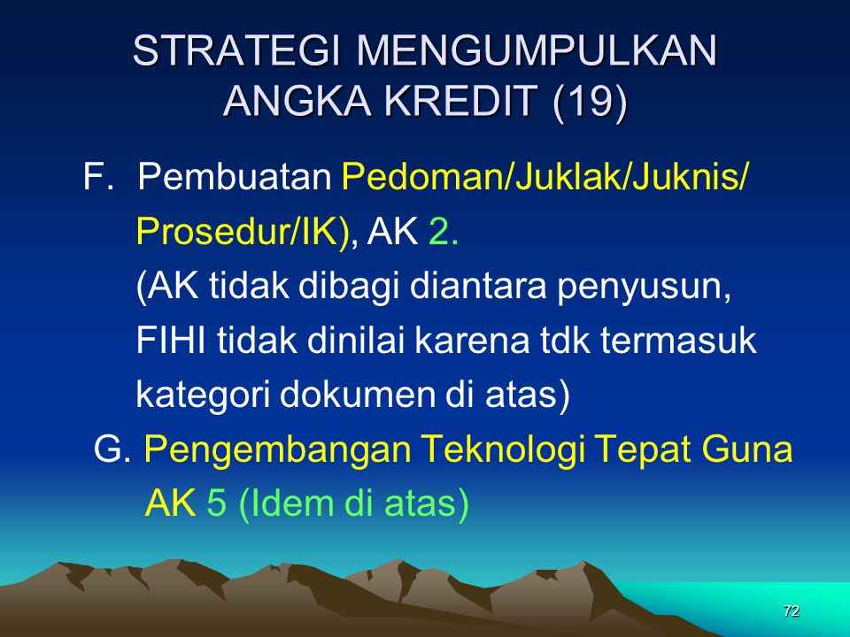 STRATEGI MENGUMPULKAN ANGKA KREDIT (19)
