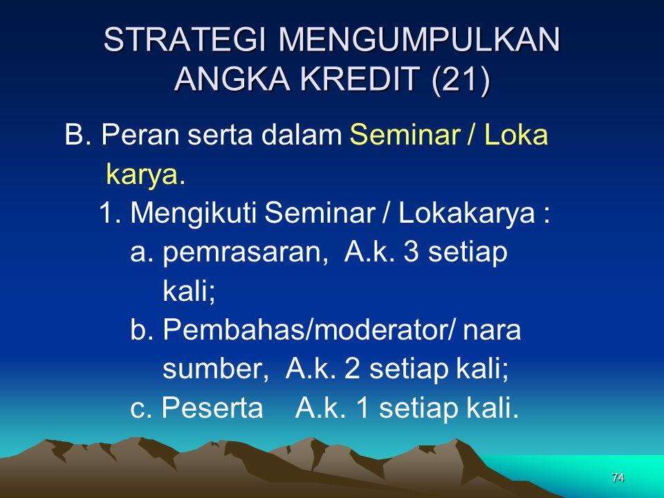 STRATEGI MENGUMPULKAN ANGKA KREDIT (21)