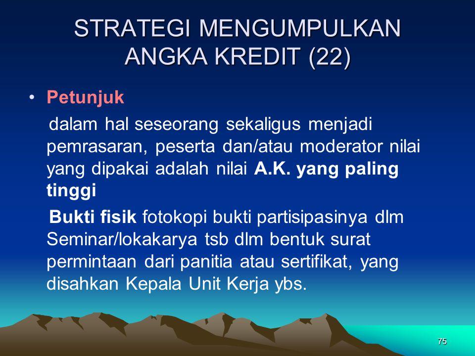 STRATEGI MENGUMPULKAN ANGKA KREDIT (22)