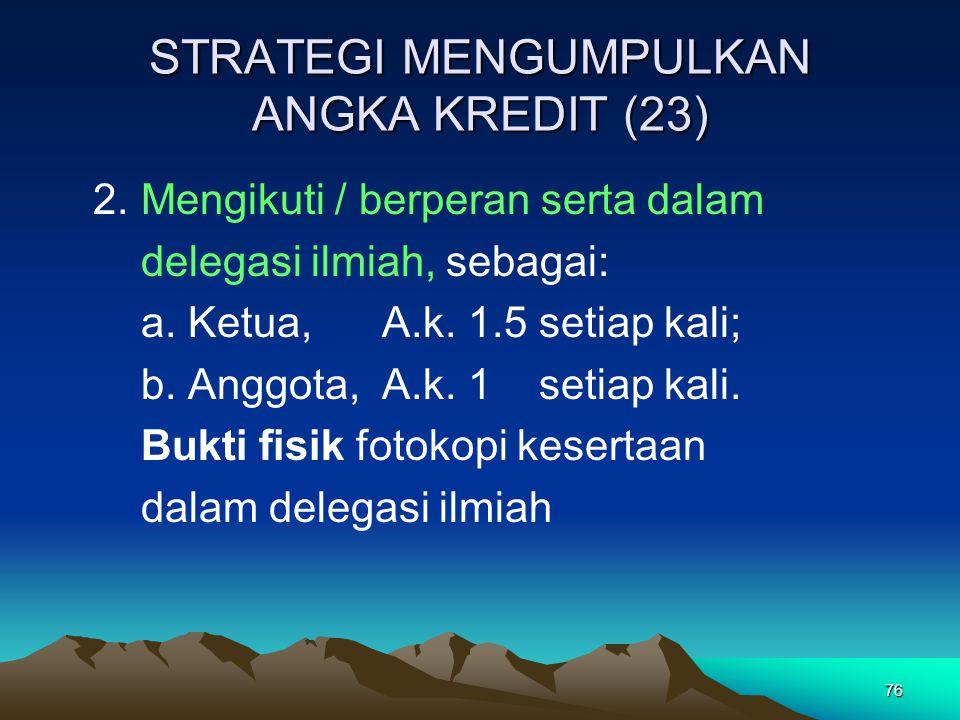 STRATEGI MENGUMPULKAN ANGKA KREDIT (23)