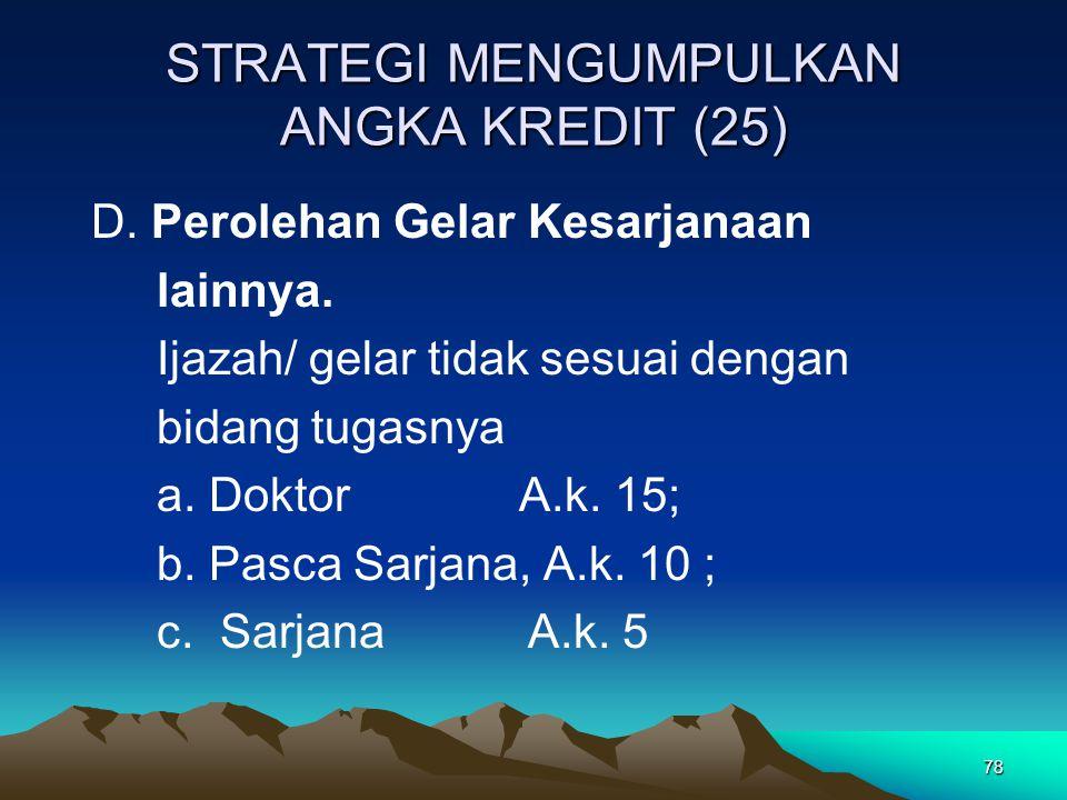 STRATEGI MENGUMPULKAN ANGKA KREDIT (25)